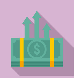 Cash pack money transfer icon flat style vector