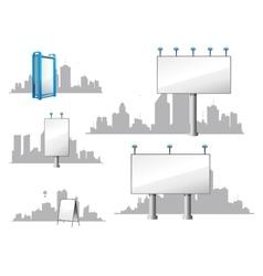 City Billboards and Skylines vector