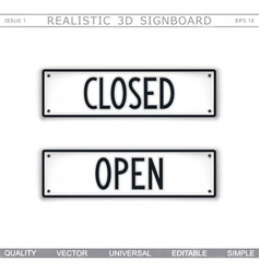 close open information stylized signboard vector image