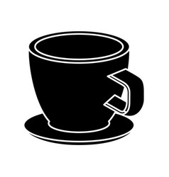 coffee cup isometric icon vector image