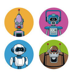 Collection robots technology smart vector