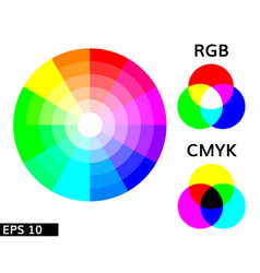 color scheme smyk and rgb vector image