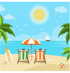 couples enjoying the beach view vector image
