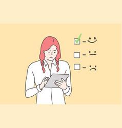 Customer assessment business concept vector