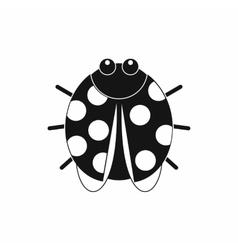 Cute ladybug icon black simple style vector image