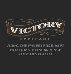 decorative bold serif font uppercase letters and vector image