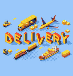 delivery transport technologies vector image