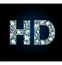 Diamond Hd Symbol vector image