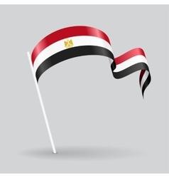 Egyptian wavy flag vector