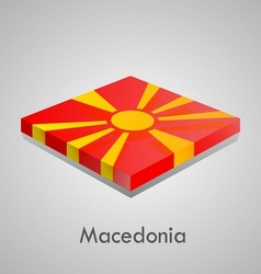 european flags set - macedonia vector image