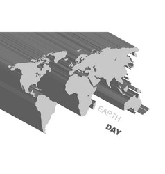 extruded gray map vector image