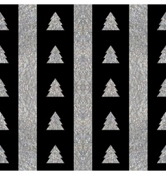 Festive seamless geometric silver textured pattern vector