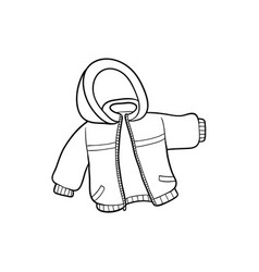 Flat baby kid jacket vector