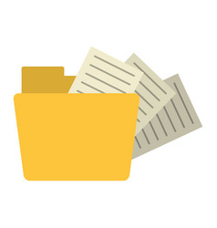 Folder with documents symbol vector