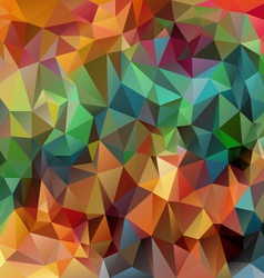 full color spring polygonal triangular pattern vector image
