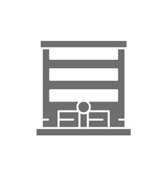 garage with automatic car gate grey icon vector image