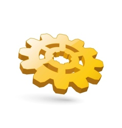 gear gold vector image