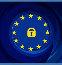 General data protection regulation gdpr vector