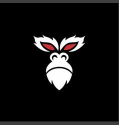 gorilla face logo vector image