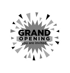 Grand opening invitation isolated minimalistic vector