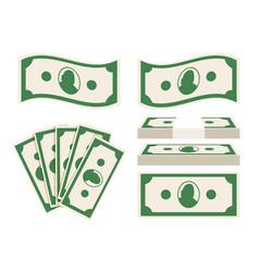 Green banknotes set vector
