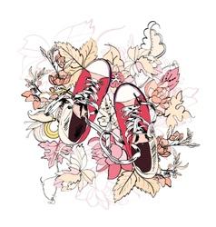 Gumshoes sketch flower vector