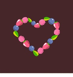 Heart consists of berries vector