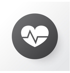 heartbeat icon symbol premium quality isolated vector image