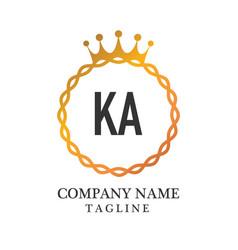 Initial letter ka elegance logo design template vector