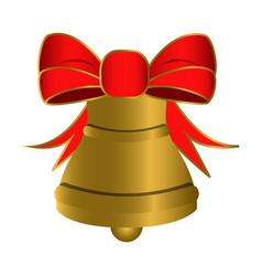 isolated golden bell vector image