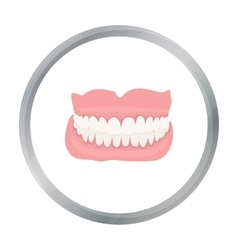 Jaw icon cartoon Single medicine icon from the vector