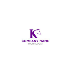 K horse logo design vector