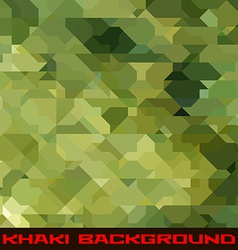 Khaki background with geometric stains vector image