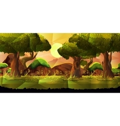 Landscape nature background vector