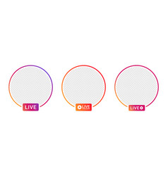 live video streaming icons for social media vector image