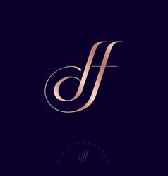 logo df monogram gold luxury monogram jewelry vector image