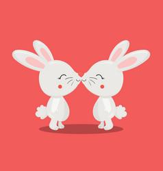 Love bunny kiss 09 vector