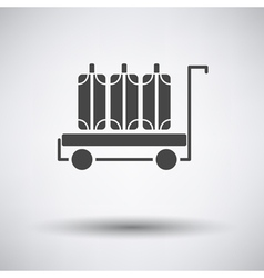Luggage cart icon vector image
