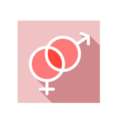 male and female icon symbols vector image