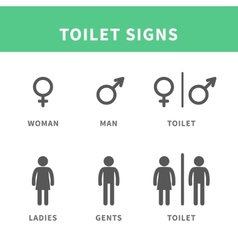 Man and woman pictograph vector