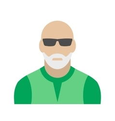 Man with gray beard avatar icon vector