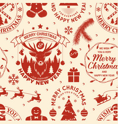 merry christmas and 2021 happy new year seamless vector image