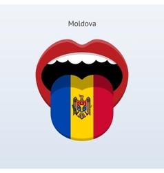 Moldova language Abstract human tongue vector