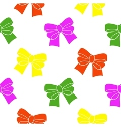 Multi-colored ribbons on a white background vector