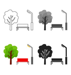 park icon in cartoon style isolated on white vector image