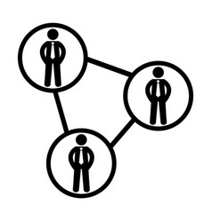 people network icon social 96x96 pictogram vector image