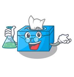 Professor cartoon tissue box in the restaurant vector
