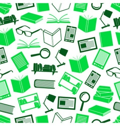 Reading books theme set of simple icons seamless vector