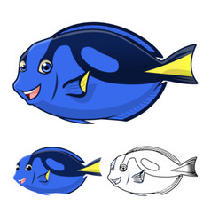 Regal Tang Fish vector image