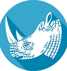 Rhino Head Icon vector